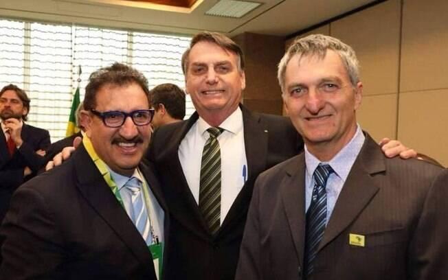 Ratinho, Jair Bolsonaro e Renato Bolsonaro