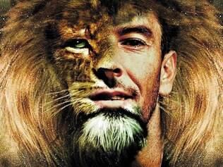 Criatividade.  O diretor de arte José Augusto Basílio criou uma figura mesclando os rostos de Leandro Donizete e de um leão
