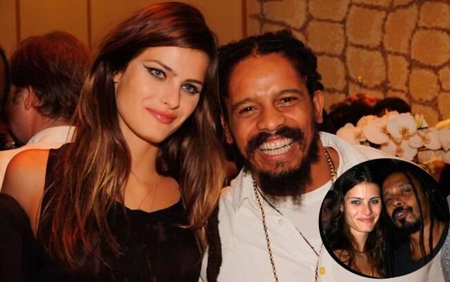 Isabeli Fontana com o atual namorado, Rohan Marley, e o ex, Marcelo Falcão