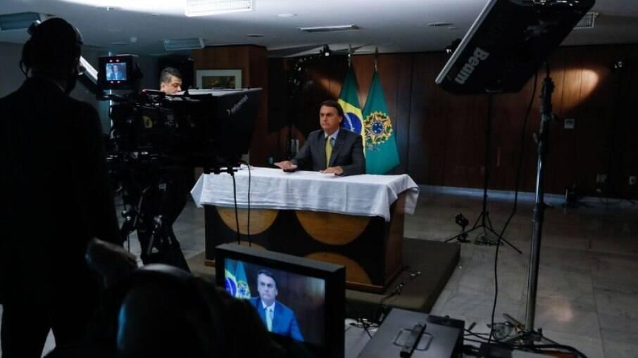 Bolsonaro fez pronunciamento em cadeia de rede nacional de TV e rádio na última terça (23)