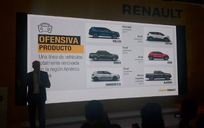 Uma apresentação da Renault revela que o Renault Captur será vendido ainda em 2016 no Brasil, enquanto as demais novidades ficam para 2017.