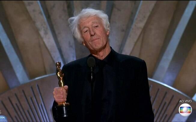 Roger Deakins agradece seu Oscar pela Fotografia de