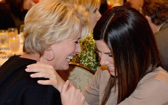 Sandra Bullock e Emma Thompson no AFI Awards em Beverly Hills. Elas vão se encontrar em muitas premiações nesta temporada, disputando o prêmio de melhor atriz