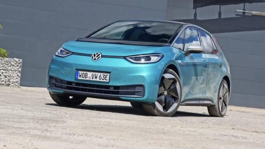 O ID.3 já é o segundo colocado em vendas na Europa e deve ser o modelo elétrico da VW para o Brasil