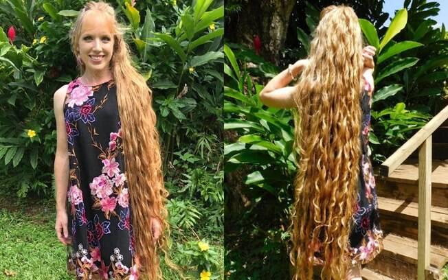 Andrea Stano recebeu o apelido de Rapunzel da vida real e afirma se inspirar no cabelo princesa das histórias infantis