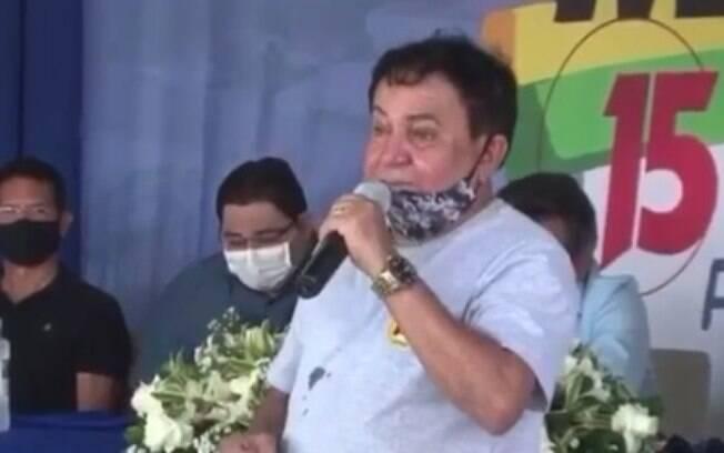 Ex-prefeito José Monção na convenção