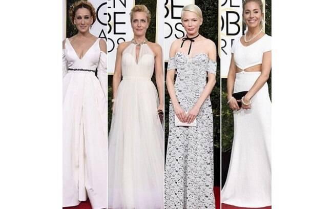 Globo de Ouro 2017: vestidos brancos