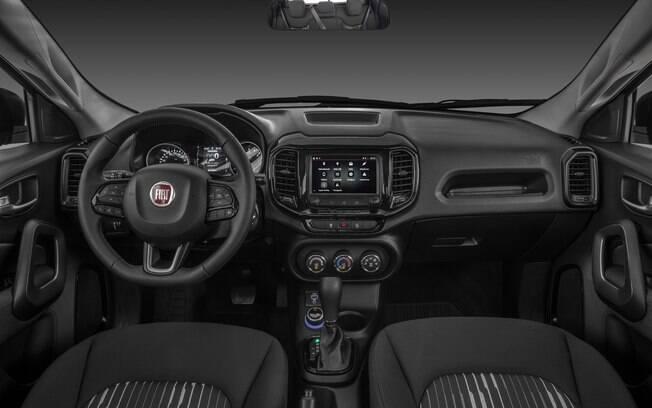 Fiat Toro 2020 tem entre os destaques do interior a nova central multimídia com tela capacitiva, de 7 polegadas