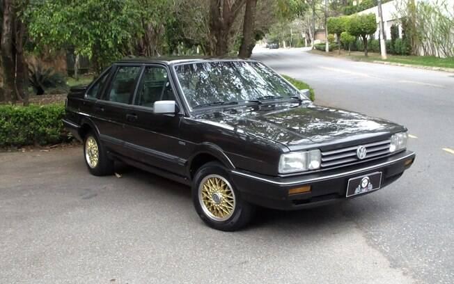 VW Santana Executivo podia ter rodas BBS douradas ou prateadas, conforme o gosto do freguês