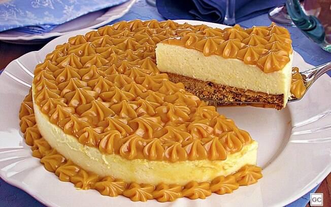 Cheesecake prática de doce de leite para uma sobremesa cheia de sabor