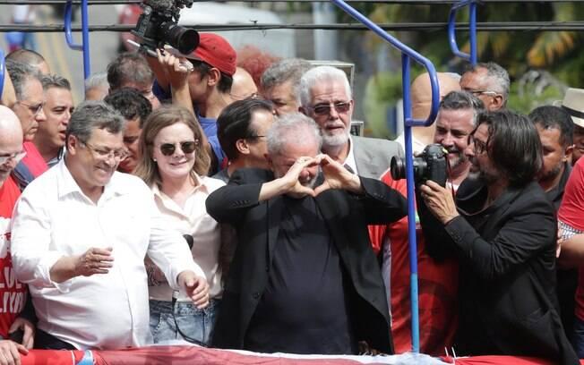 Lula fez discurso no ABC Paulista