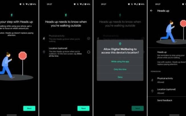Android passa a alertar usuários que usam celular andando na rua