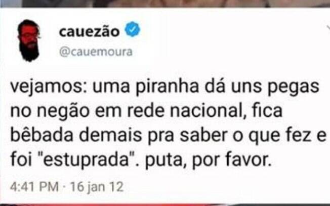 Posts antigos do youtuber Cauê Moura é resgato no Twitter