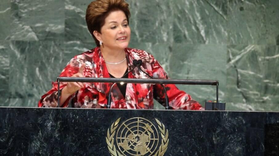 Dilma Rousseff quando ainda era presidente da República
