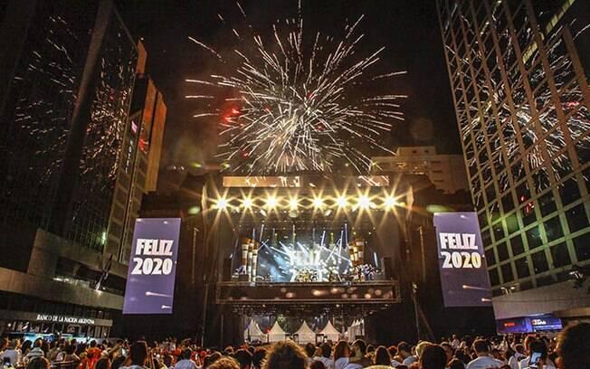 Show da virada na avenida Paulista recebeu dois milhões de pessoas no Réveillon 2020