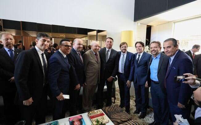 Bolsonaro almoçou com lideranças evangélicas nesta quarta-feira (7)