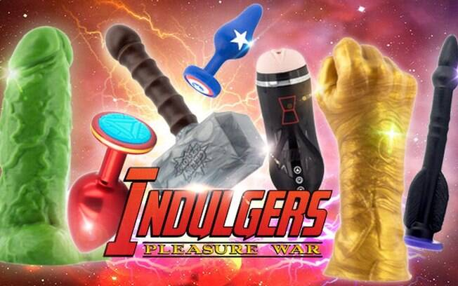 Os brinquedos eróticos lançados recentemente se inspiram em personagens conhecidos no universo dos 'Vingadores', como Hulk, Homem de Ferro, Thor, Capitão América, Viúva Negra, Thanos e o Gavião Arqueiro, respectivamente