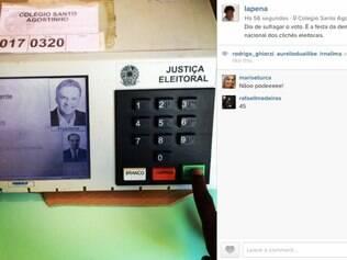 Ex-Casseta e Planeta Helio de La Peña também entrou na onde e registrou seu voto nas eleições de 2014