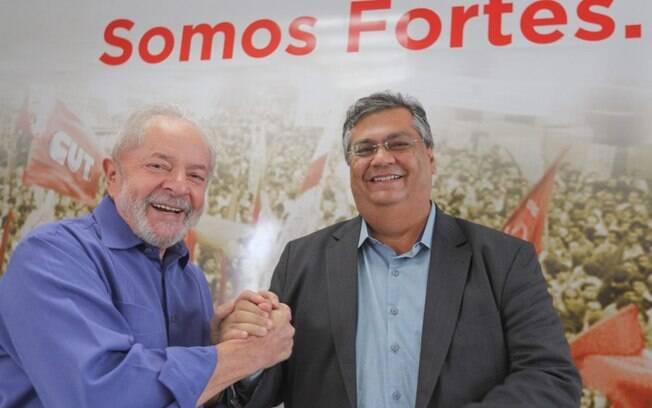 Flávio Dino, governador do Maranhão, e ex-presidente Lula