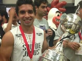 Guilherme com a taça da Libertadores: jogador foi herói improvável na conquista do Galo