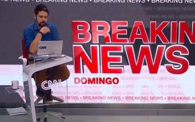 Phelipe Siani deixa soltar palavão ao vivo na CNN Brasil