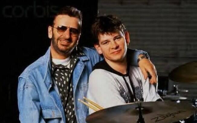 Ringo Starr e o filho Zak Starkey
