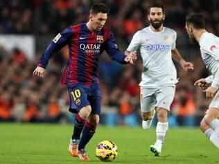 Messi foi o autor do gol que deixou Barcelona com vantagem na Copa do Rei