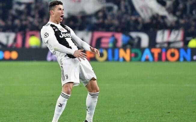 Cristiano Ronaldo fez gesto obsceno na vitória da Juventus