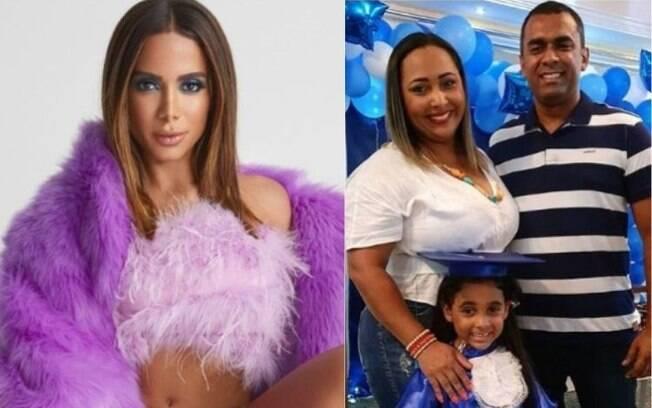 Anitta e a família do irmão