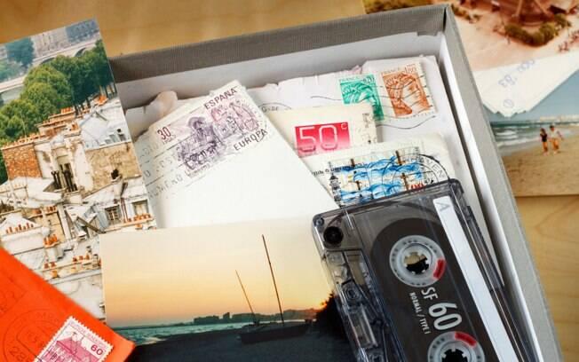 Caixa de recordações: lembranças físicas não devem ocupar espaço demais na vida e no ambiente