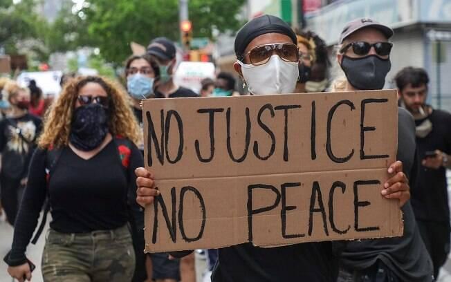 manifestação antifa contra racismo e violência policial