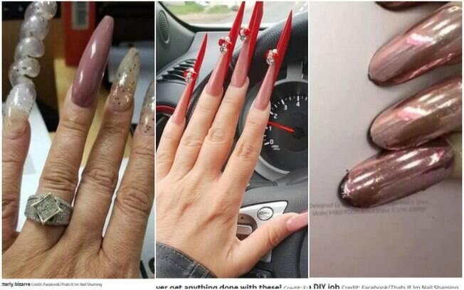 As imagens das unhas bizarras e impressionantes foram compartilhadas por diversos usuários em um grupo do Facebook