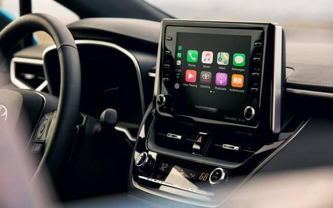 A nova central multimídia no novo Corolla deverá passar a ser utilizada em outros modelos da marca no Brasil