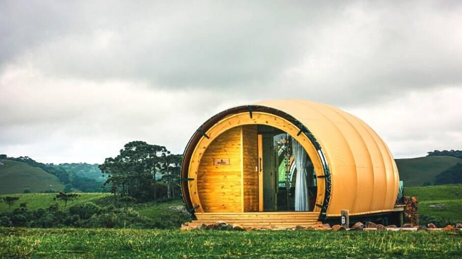 Passaria o fim de semana em um acampamento de luxo? Conheça os casulos do Hotel Parador, em Cambará do Sul