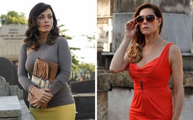 Tereza Cristina encontra Marcela no cemitério e quase não acredita no que vê, em Fina Estampa
