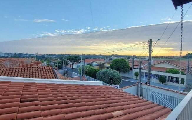 Moradores registram nuvens tipo 'cobertor' na região de Campinas