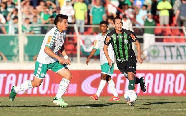 Na terceira rodada, o América-MG venceu o  Palmeiras em Itu por 1 a 0