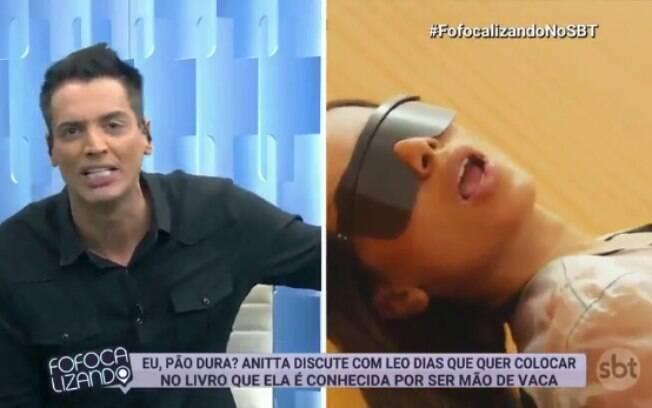 Léo Dias explica polêmica e diz que cantora Anitta é pão dura em trecho de livro
