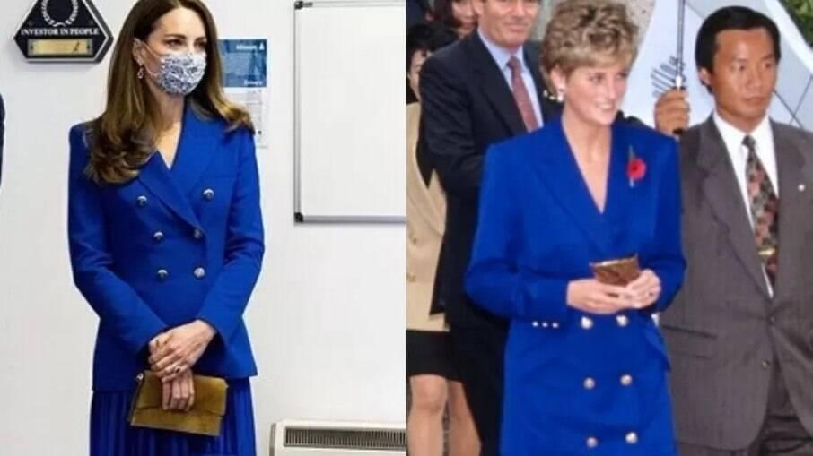 Kate Middleton vestiu look inspirado em princesa Diana