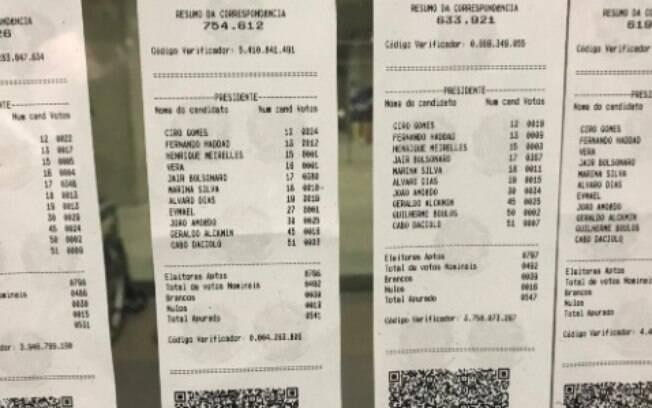 Com votação encerrada em alguns países do exterior, imagens dos boletins de urna são divulgadas nas redes sociais