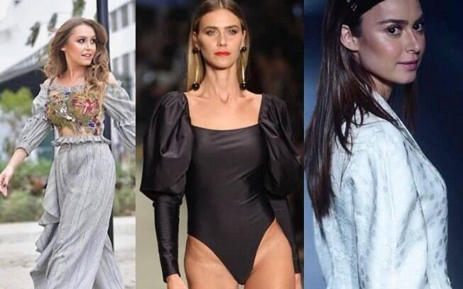 Os famosos no São Paulo Fashion Week