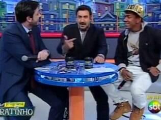 Ao lado de MC Nego do Borel, Ratinho explica ao vivo intenção de Danilo Gentili