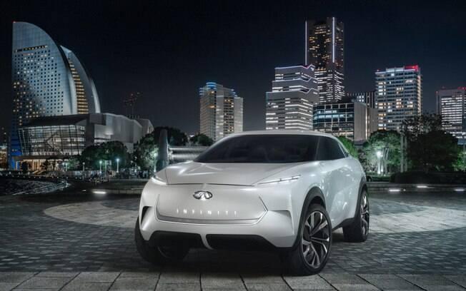 Entre os carros elétricos, a japonesa Infinity revelou o conceito QX Inspiration, antecipando as linhas de seu SUV elétrico
