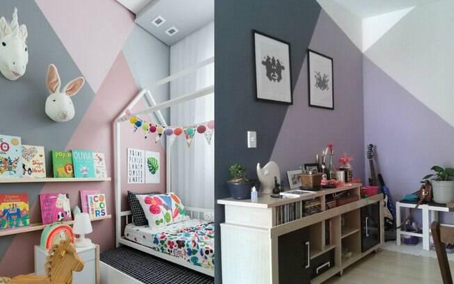 Entre as tendências de decoração, a pintura geométrica pode ser usada em diversos ambientes da casa