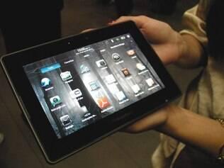 O PlayBook, tablet da BlackBerry, fez pouco sucesso nos EUA e foi alvo de críticas