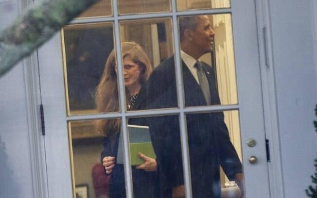 Barack Obama recebeu o casal de atores no Salão Oval