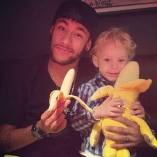 Neymar iniciou a campanha com o filho, Davi Lucca
