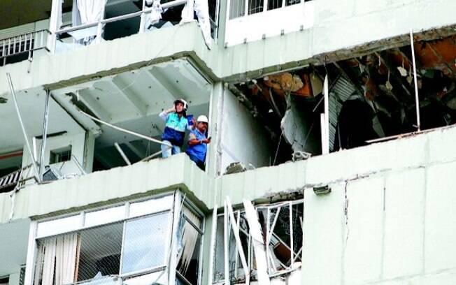 Prédio em São Conrado que desmoronou após vazamento de gás