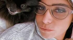 Giovanna Antonelli curte seu cachorro