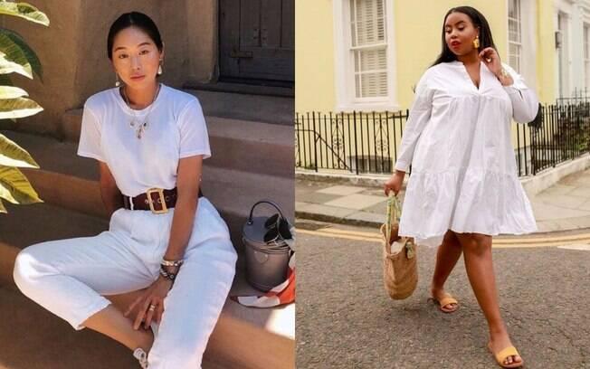 O visual 'all white' com acessórios é uma alternativa para usar a roupa branca comprada para o ano novo